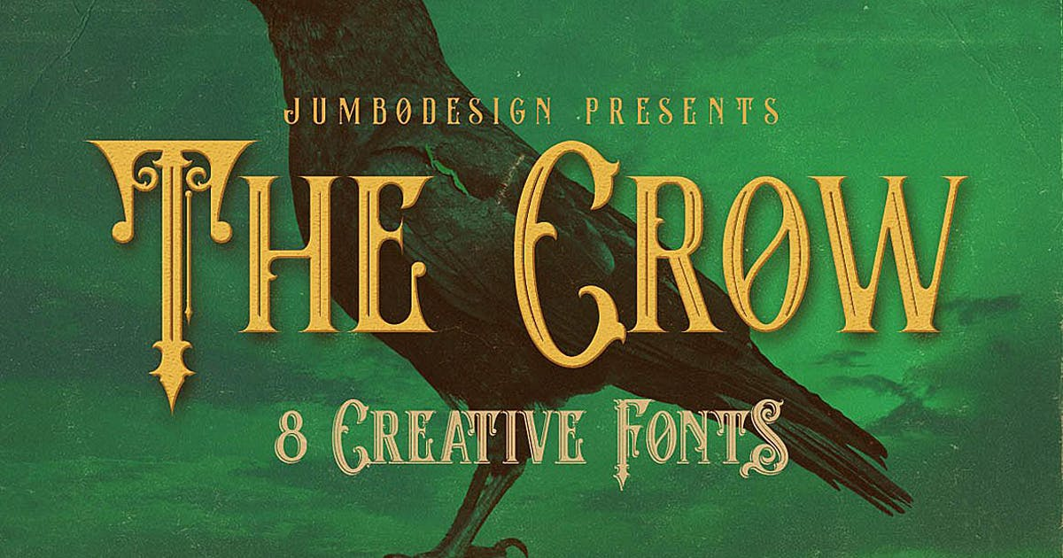 The Crow - Vintage Style Font by cruzine