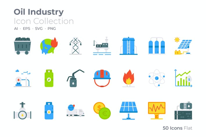 Oil Industry Color Icon