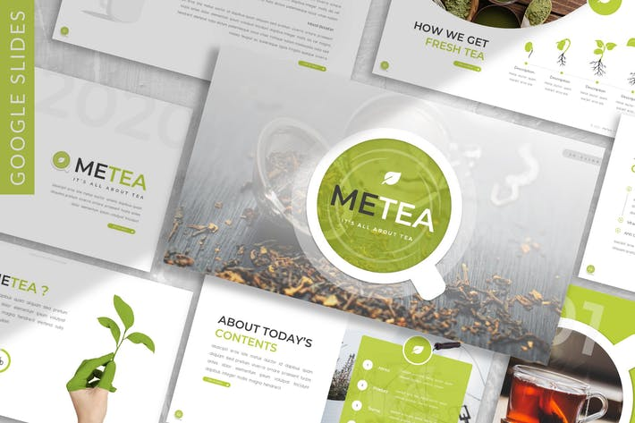 Thumbnail for Metea - Plant Google Slide Template
