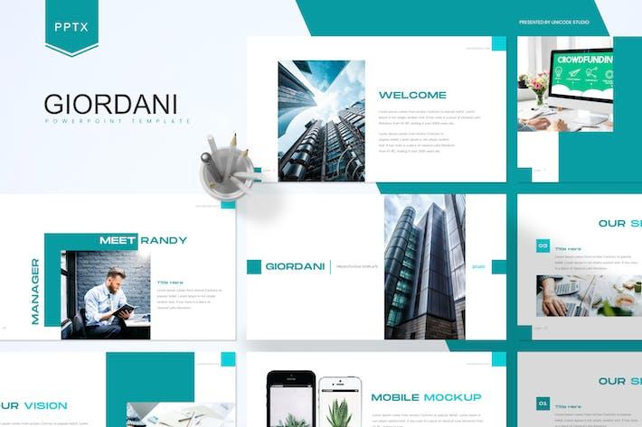 Thumbnail for Джордани - Шаблон Powerpoint для бизнеса