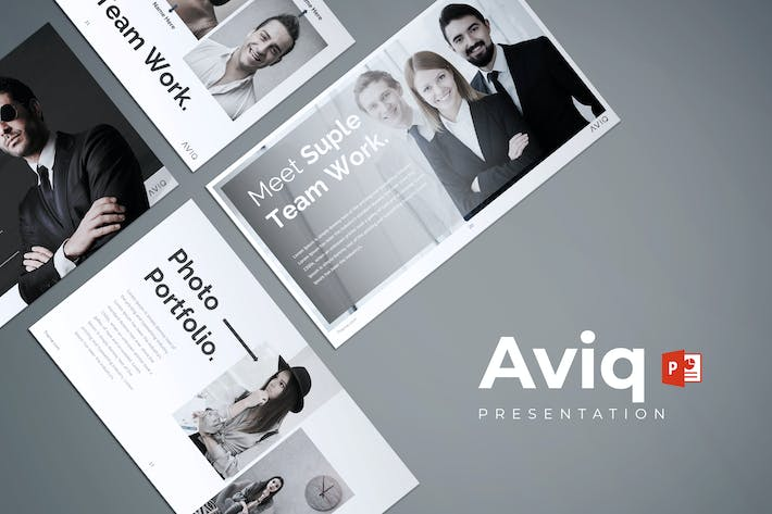 Thumbnail for Aviq - Powerpoint Template
