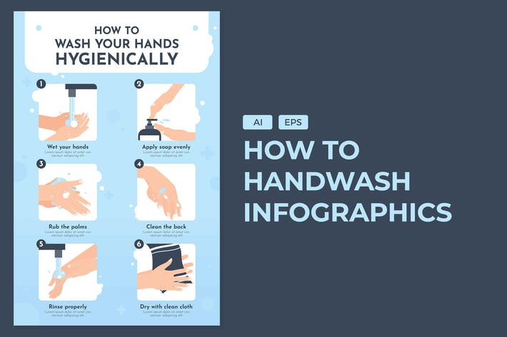 Thumbnail for How to Wash Your Hand - Infographics