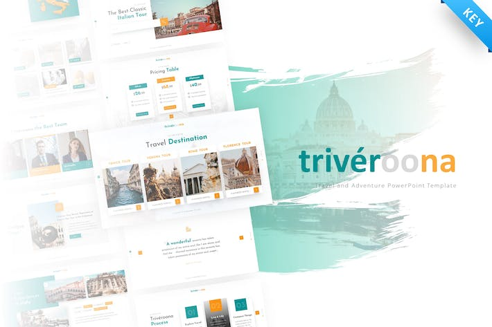 Thumbnail for Triveroona - Travel Keynote Template