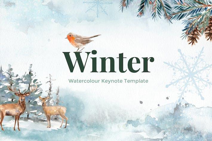 Thumbnail for Winter - Aquarell Keynote Vorlage