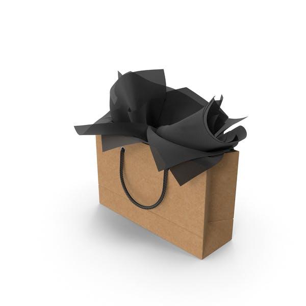 Сумка для покупок Craft с черной подарочной бумагой