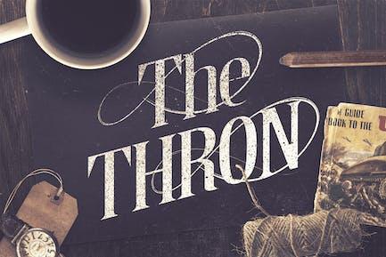 The Thron Tipo de letra