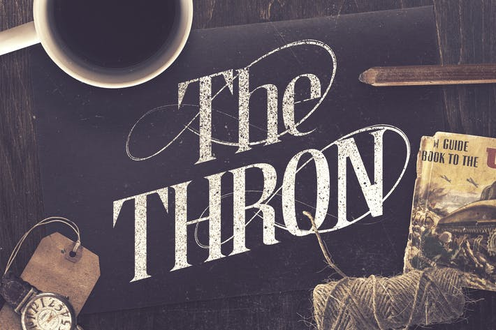 Cover Image For The Thron Typeface