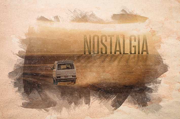 Thumbnail for Nostalgia - Antiguas Superposiciones de acuarela