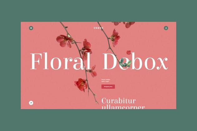 Debox – floral template