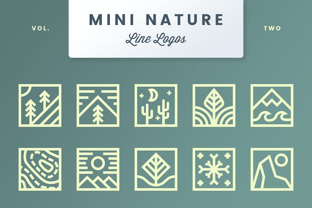 Mini Nature Line Logos - Volume 2 - product preview 1