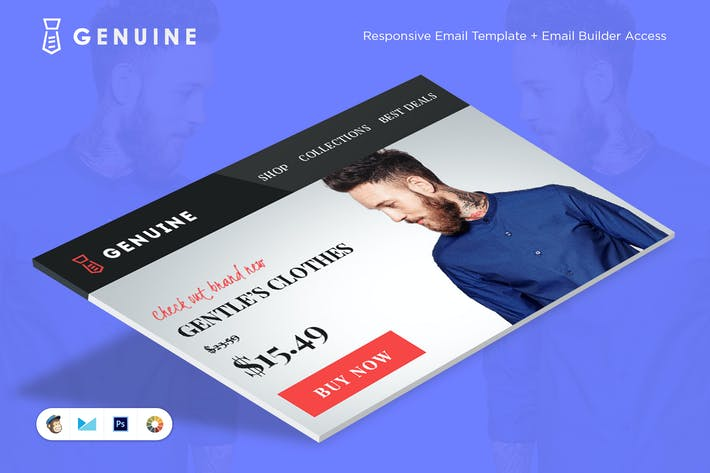 Thumbnail for Genuine E-commerce E-Newsletter Template