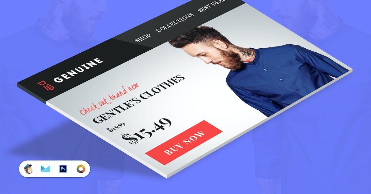 Genuine E-commerce E-Newsletter Template by JeetuG