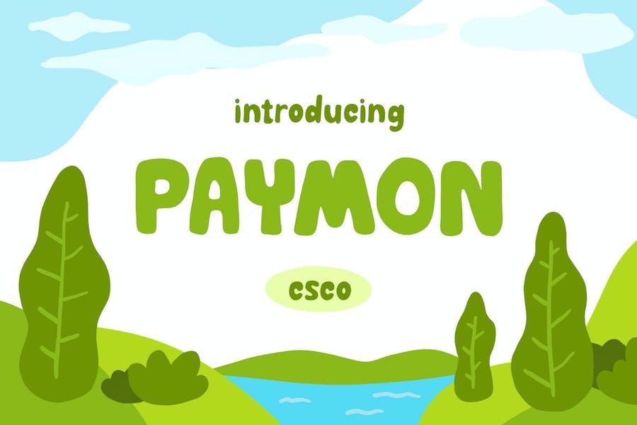 Paymon - Playful Display Font