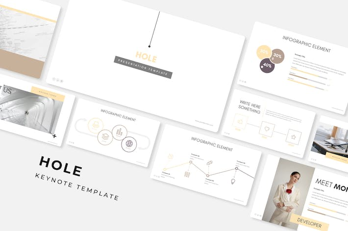 Thumbnail for Hole - Keynote Template