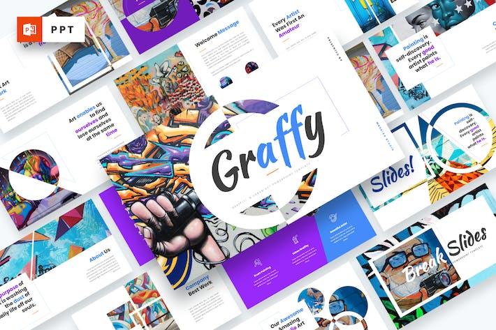 Graffy - Plantilla de arte urbano y graffiti Powerpoint