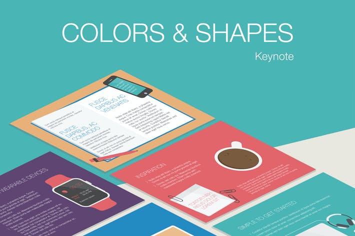 Thumbnail for Colors & Shapes Keynote Template