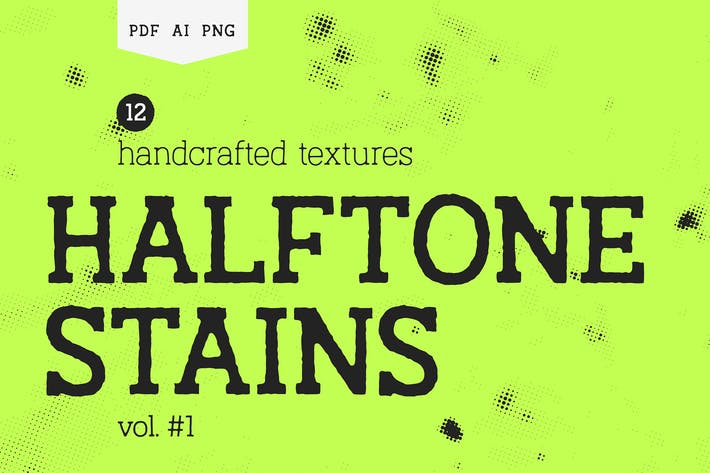 Halftone Stains #1 Texture Pack