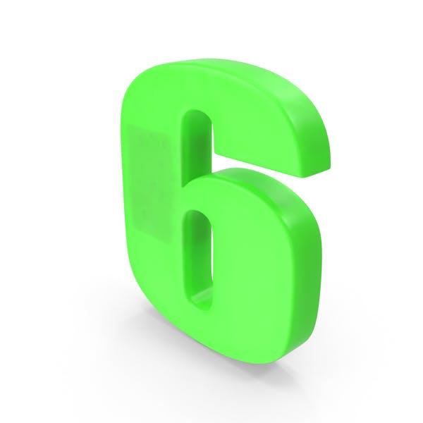Cover Image for Number 6 Fridge Magnet