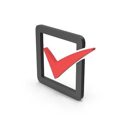 Symbol Check Box Red