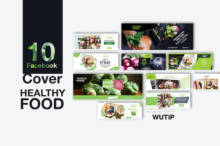 Thumbnail for 10 Facebook Cover- Healthy Food