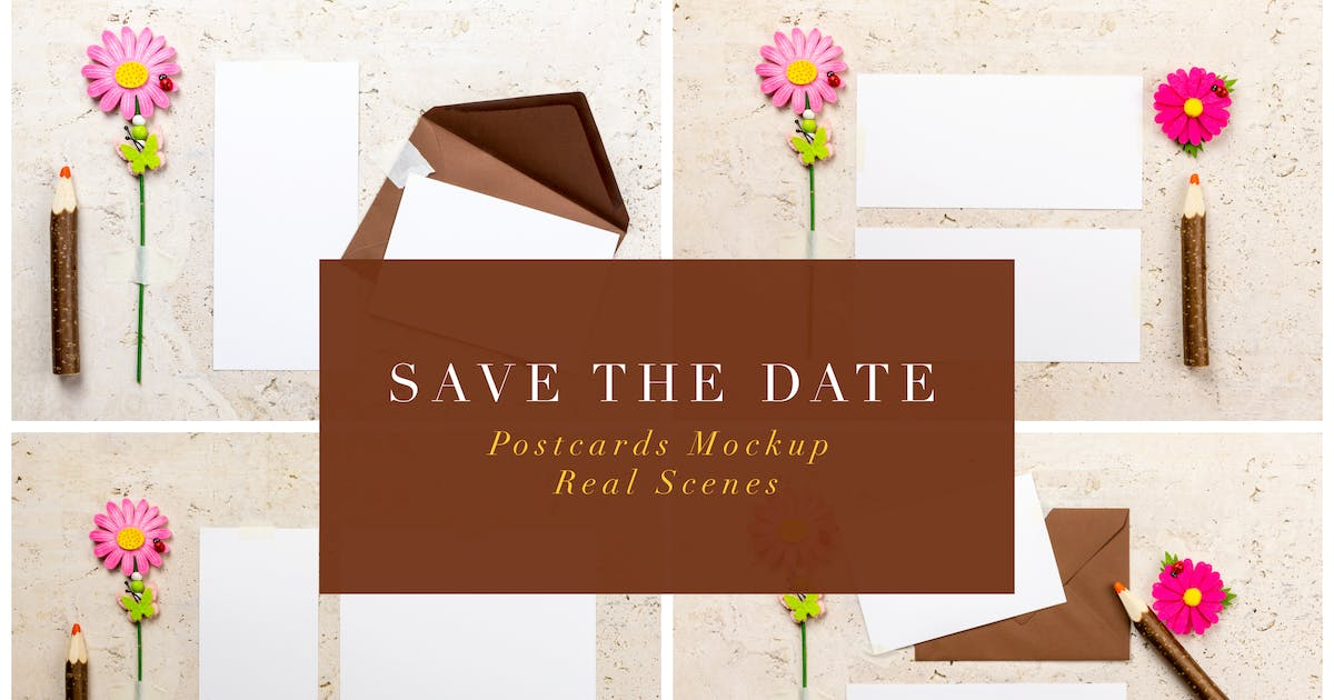Download Save The Date Postcards Mockup by Digital_infusion