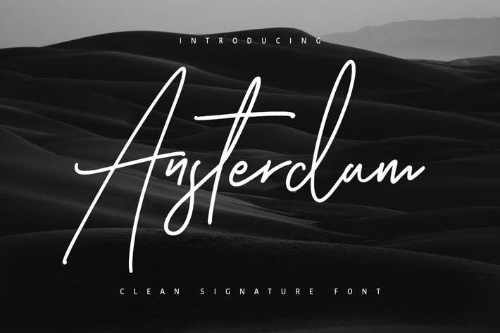 Thumbnail for Ansterdam - Clean Signature Font