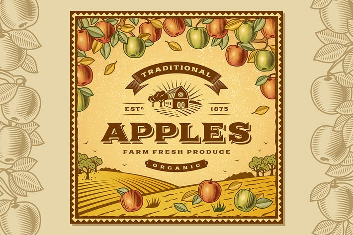 Thumbnail for Vintage Apples Label