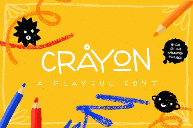 Crayon - playful handmade font