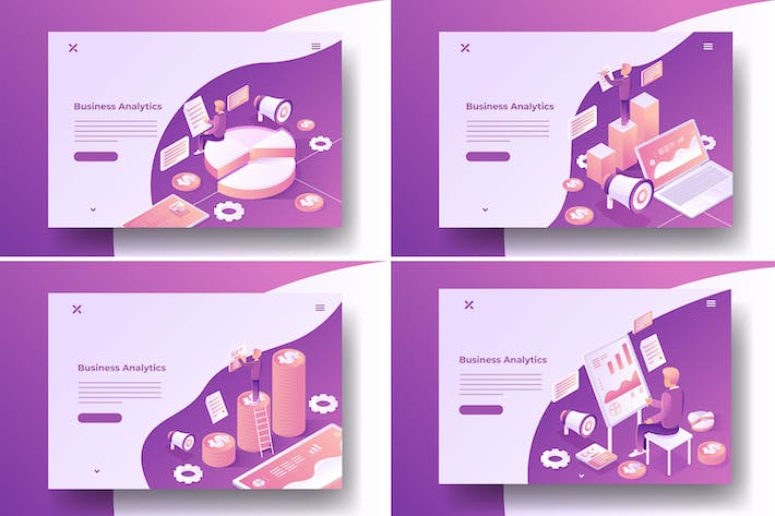 Thumbnail for Isometric Business Analytics