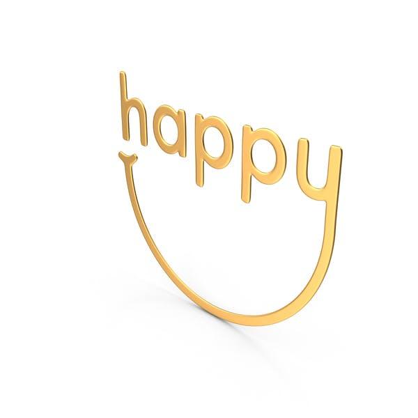 Happy Symbol Gold