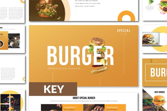 Thumbnail for BURGER Business Keynote Template - LS