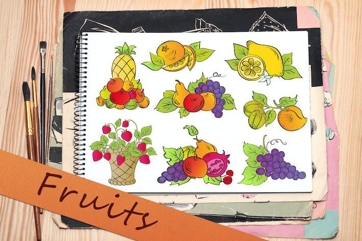 Thumbnail for Doodle Fruits Set