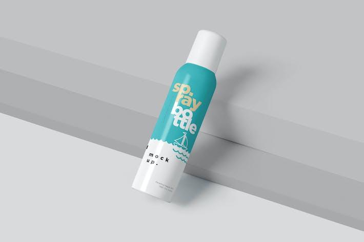 Thumbnail for Metal Deodorant Spray Bottle Mockups