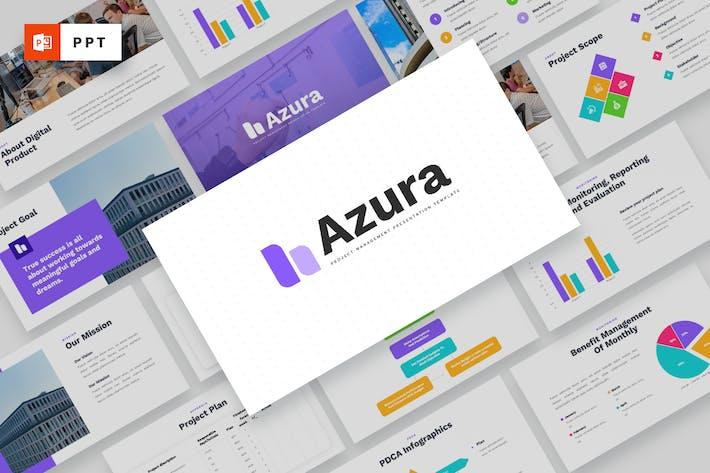 AZURA - Управление проектами Powerpoint Шаблон