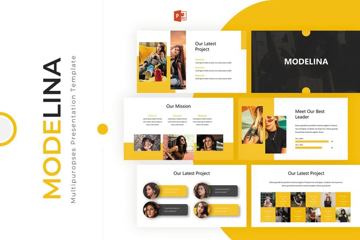 Thumbnail for Modelina - Powerpoint Template