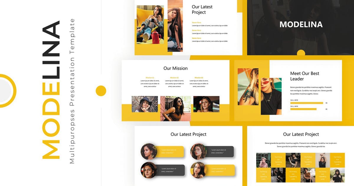 Download Modelina - Powerpoint Template by SlideFactory