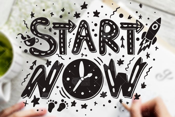 Thumbnail for Inspirational Slogan - Start Now