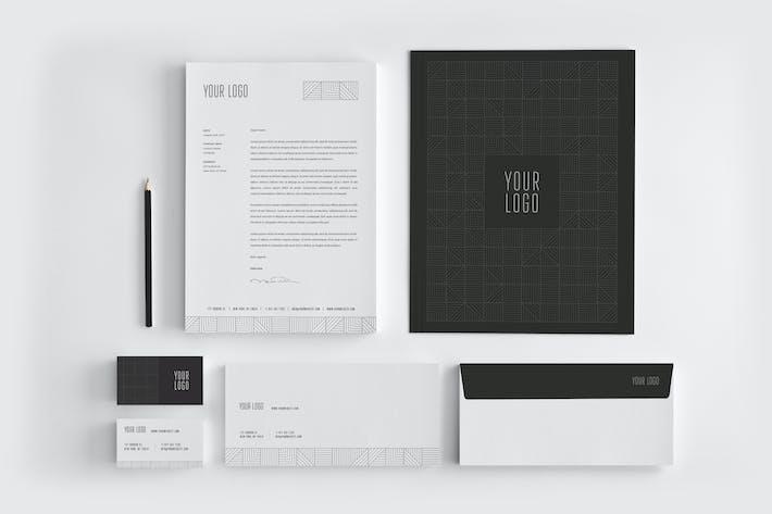 Thumbnail for Minimal Premium Black Stationery