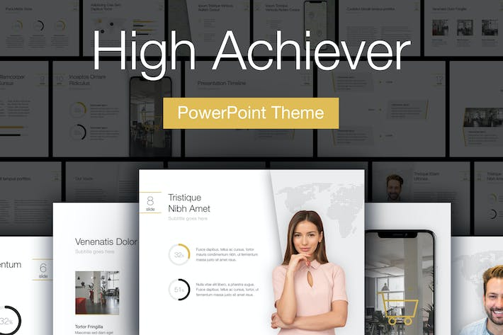 Thumbnail for High Achiever PowerPoint Template