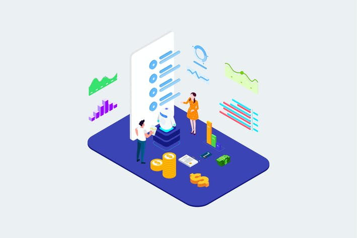 Thumbnail for Communication With Cilent By AI Isometric - T2