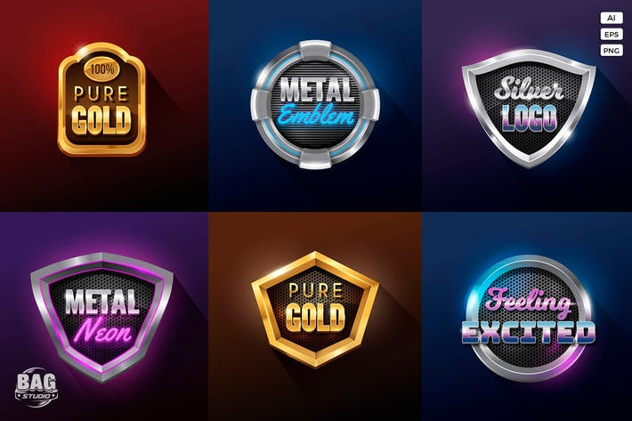 Thumbnail for Realistic Vector Badges Collection Vol 1