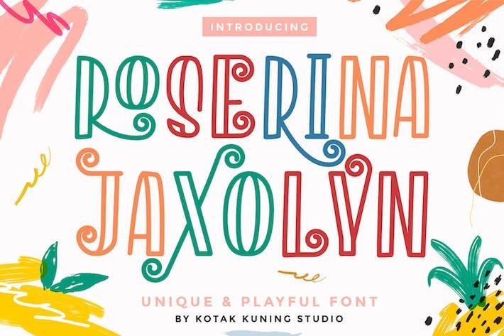 Thumbnail for Roserina Jaxolyn - Fuente de pantalla juguetona