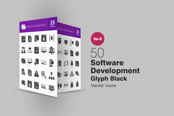 Thumbnail for 50 Software Development Glyph Icons