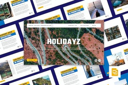 HOLIDAYZ - Travel Holiday Google Slides Template