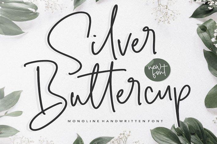 Thumbnail for Plata Buttercup Fuente Escrito a Mano YH