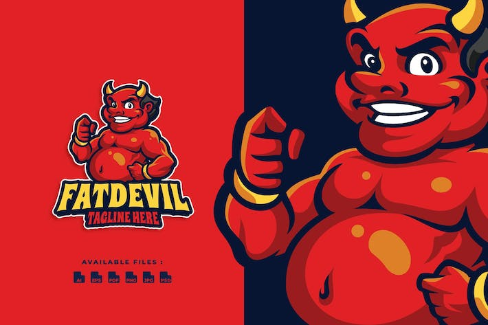 Thumbnail for Fat Devil Cartoon Logo