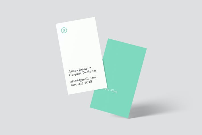 Thumbnail for Vertical Business Card Mockups