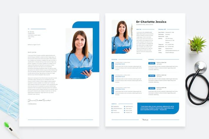 Thumbnail for Doctor Resume / CV Template 16