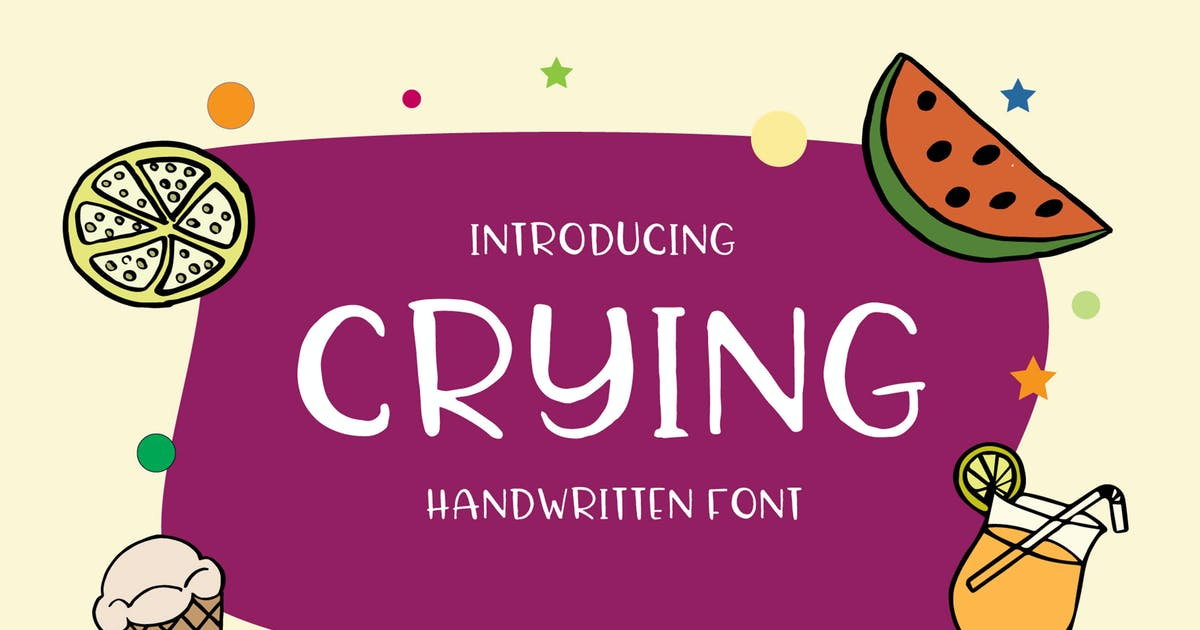 Download Crying Font by alit_design