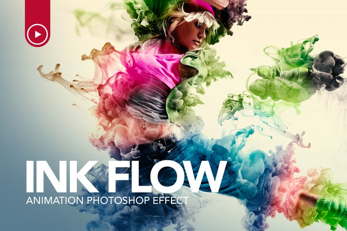 Thumbnail for Ink Flow Animation Photoshop Action